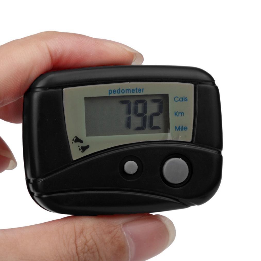 Perman Digital LCD Run Step Mini Pedometer Calorie Walking Distance Counter (Black)
