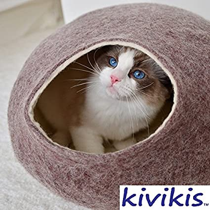 Cat Bed, House, Cave, Nap Cocoon, Igloo, 100% Handmade From