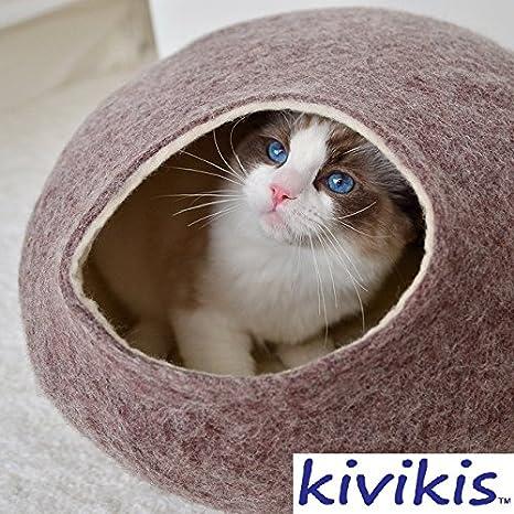Amazon.com: Kivikis Cama para gato, cueva, cueva para ...