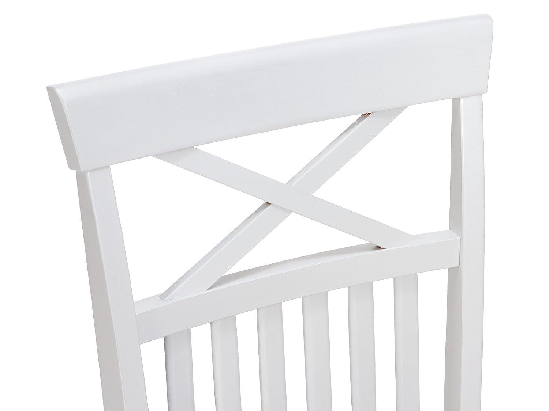 Holzstuhl Weiß massivum esszimmer stuhl caprera 42x95x51 cm aus massiven rubberwood
