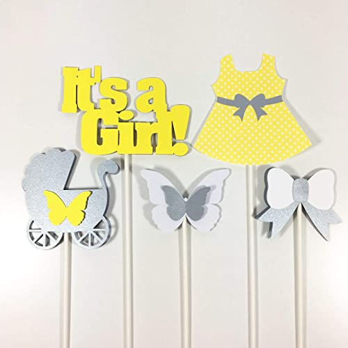 Amazon Com Butterfly It S A Girl Baby Shower Centerpiece Sticks
