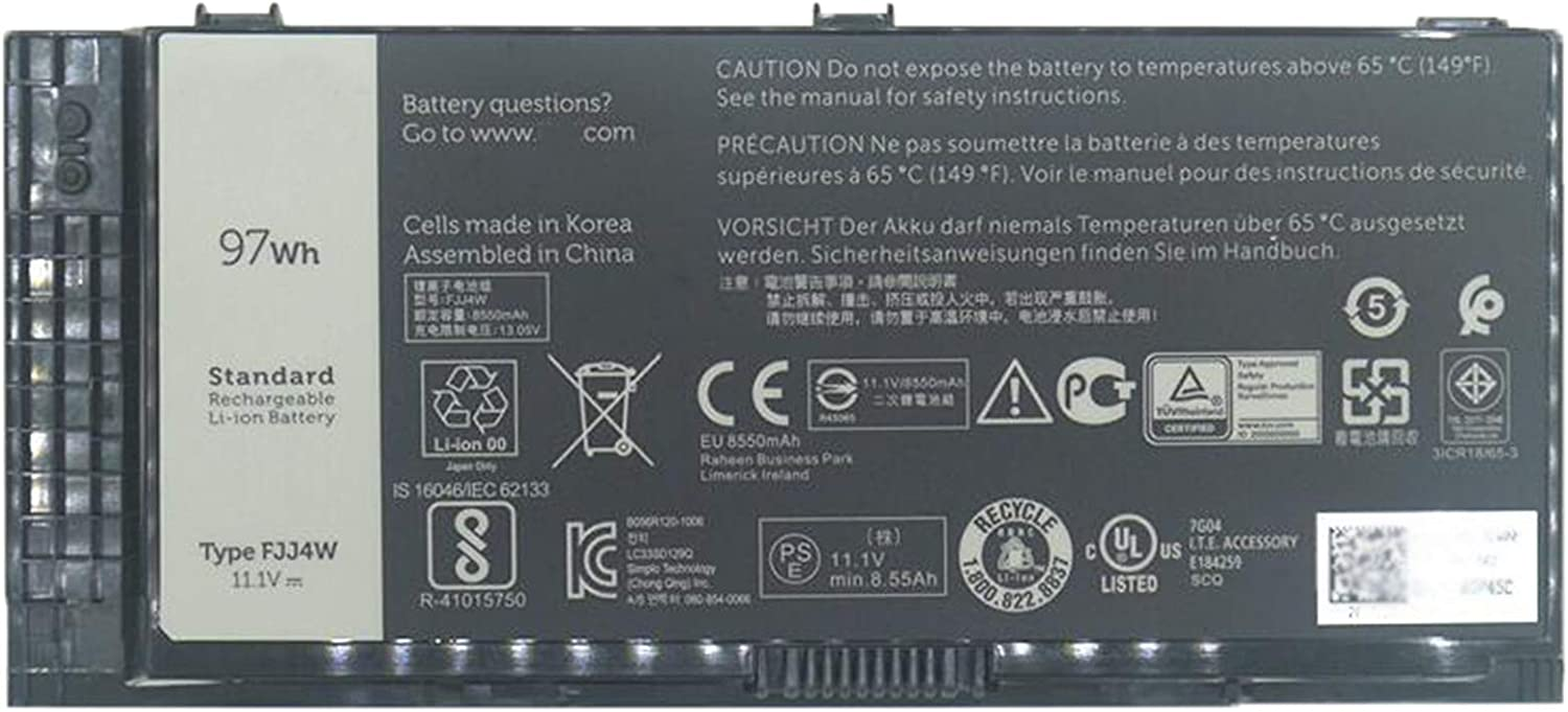 Dentsing 11.1V 97Wh/8550mAh 9-Cell Battery FJJ4W Laptop Battery Compatible with Dell Precision M4600 M4700 M4800 M6600 M6700 M6800 Series Notebook FV993 R7PND V7M28 H1MNH N71FM