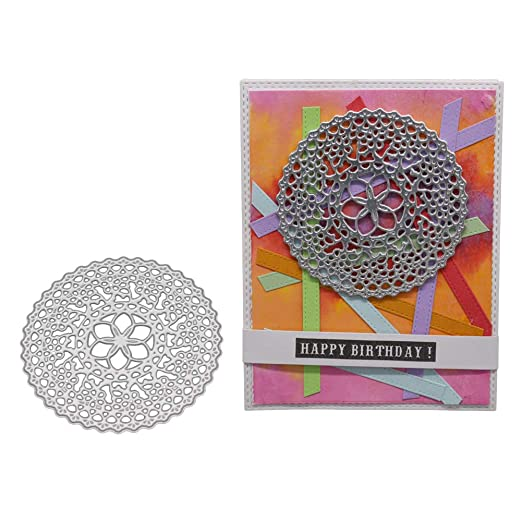 Feida Troqueles de corte, troquelado para el baño DIY plantillas de repujado álbum de recortes de papel Craft plantilla - plata: Amazon.es: Hogar