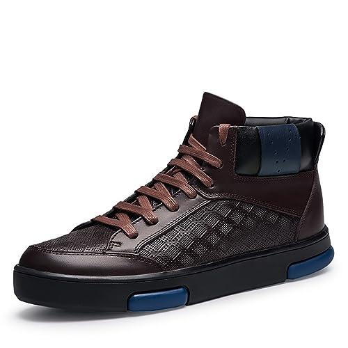 belle qualité bon marché prix incroyables Chaussure Homme Ville de Mode Basket Cuir pour Travail ...