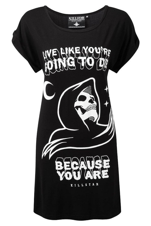 Killstar Damen Gothic T-Shirt / Longshirt - Certain Death Tunika Kleid  Sensenmann: Amazon.de: Bekleidung