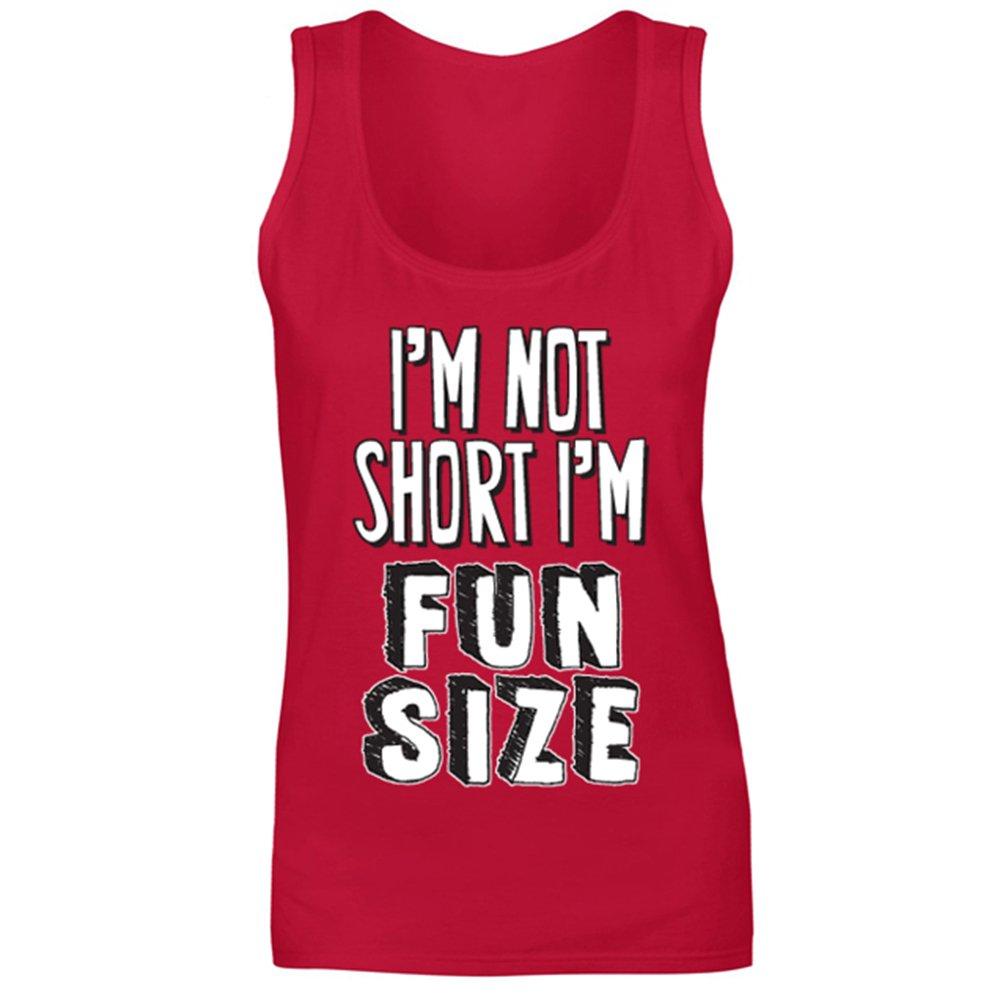 Womens I m Not Short I m Fun Size Funny Slogan Joke Vest Tank Top 48a9031f661e