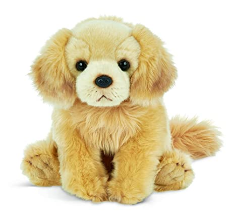 Amazon Com Bearington Goldie Golden Retriever Plush Stuffed Animal