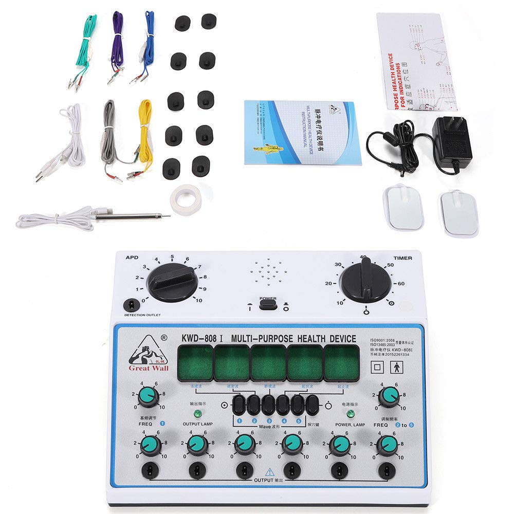 Amazon.com: Acupuncture Stimulator, Electric Acupuncture Stimulator Machine Massager Care 6 Output Patch 500-1000hpa (US Stock): Health & Personal Care