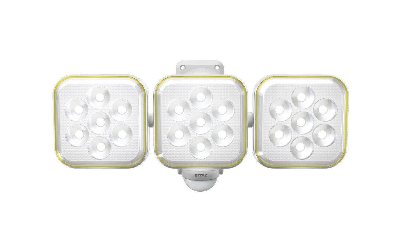 1位.ムサシ 5W×3灯 フリーアーム式LEDソーラーセンサーライト