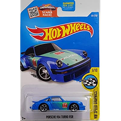 Hot Wheels 2016 HW Speed Graphics Porsche 934 Turbo RSR 181/250, Blue: Toys & Games