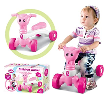 99b201bba02 Amazon.com: Aobiny Ride On Toy Kids Car Push Along Children Bike Toddler  Walker Baby Balance Toys, 2 Year Old and Up (Pink): Toys & Games