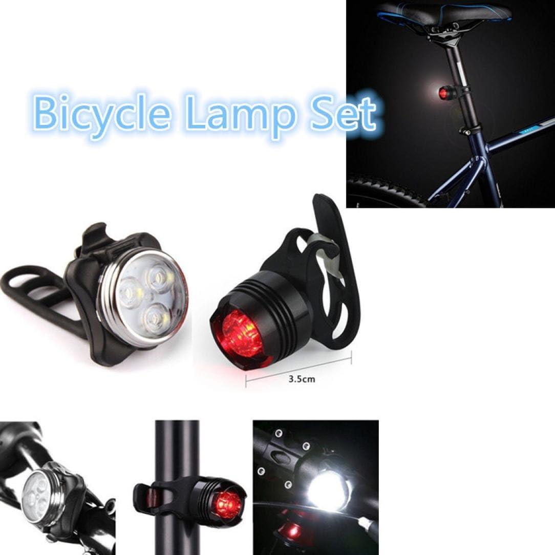 Rechargeable LED Bike Light Bicycle Lamp Set SOMESUN Front Light Tail Light USB