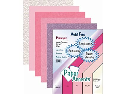 Accent Design Paper Accents ADPaperVarietyPk851120Princess Paper
