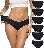 ALTHEANRAY Women's Seamless Hipster Underwear No Show Panties Soft Stretch Bikini Underwears Multi-Pack
