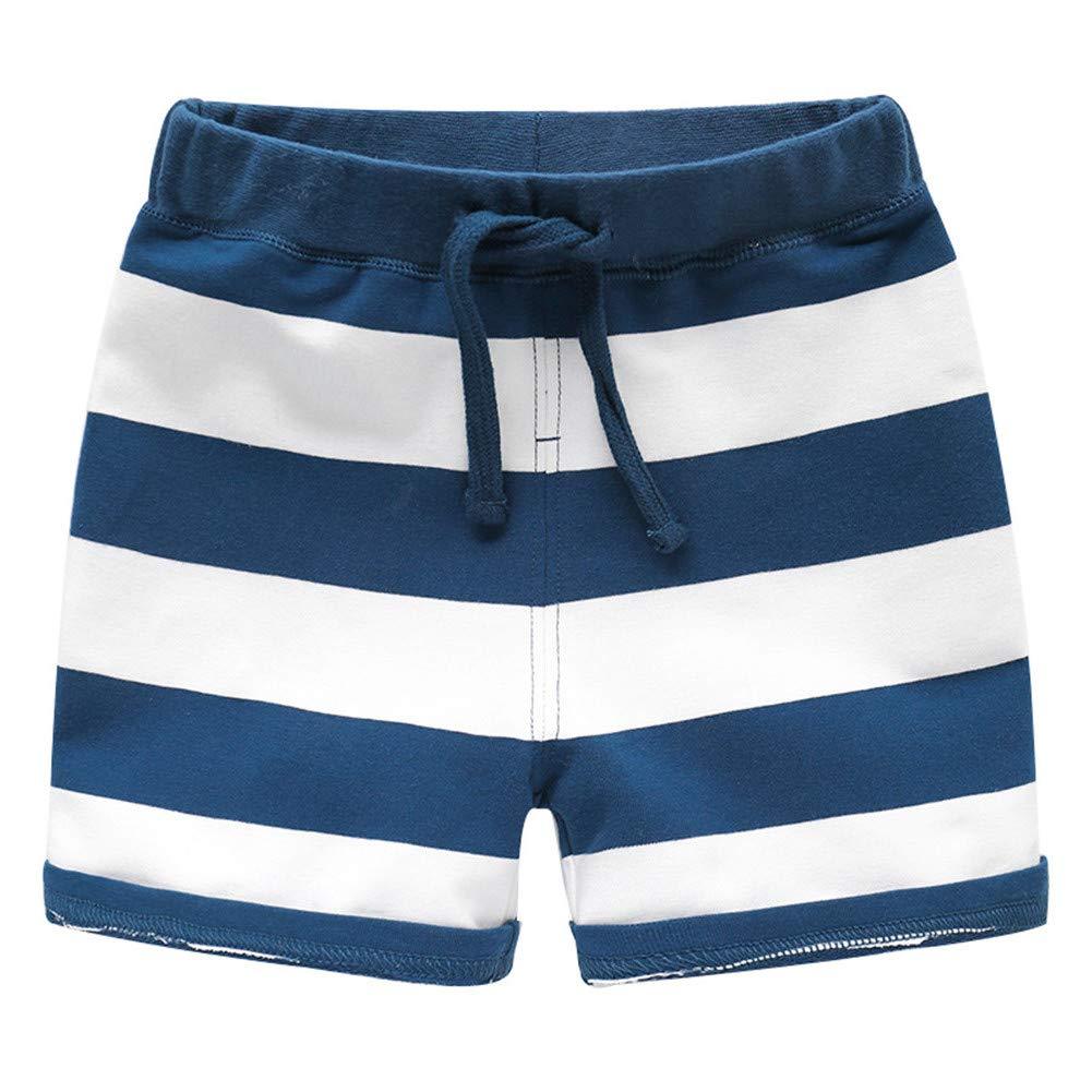 Mud Kingdom Boys Shorts Stripe Strap Elastic Waist