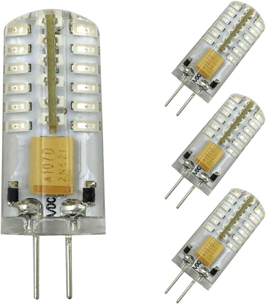 G4 LED 2W Capsule LED Light Bulb 20W Replacement for G4 Bulbs Lamps AC//DC 12V