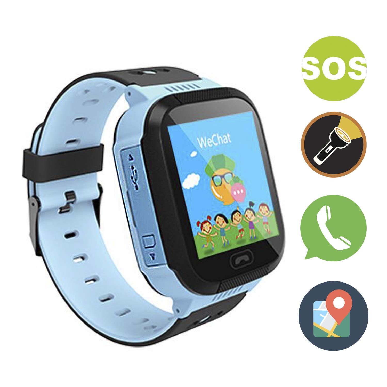 GZJXL Reloj Inteligente smartwatch Que Permite Realizar Llamadas y Enviar Mensajes, con Alarma SOS y función localizadora a Tiempo Real.