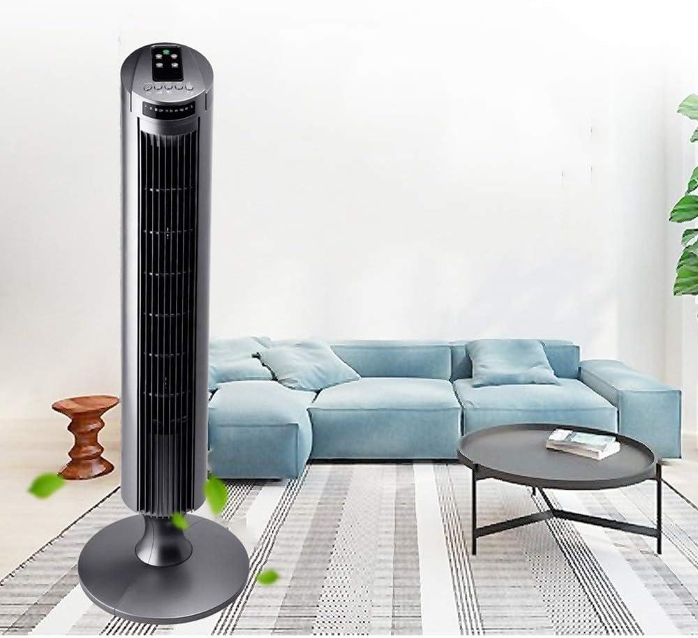 AKX Ventilatore a torre, raffreddatore ad aria cilindrico domestico, 45W / Argento Grigio