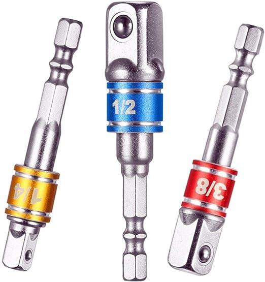 """1//4/"""" Tige Hex Socket Adaptateur Pour 3//8/"""" Impact Driver Nut Power Extension Bar 50 mm"""