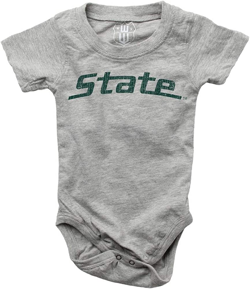 Wes and Willy Infant Michigan State University Bodysuits 3 Pack Organic Cotton Set 6 M