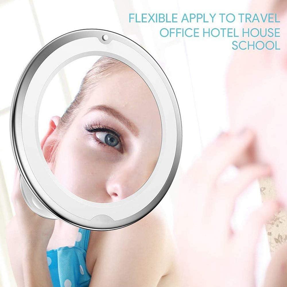 10X Vergr/ö/ßerung LED beleuchtet Kosmetikspiegel 360/° Schwenkbar Makeup Spiegel f/ür Zuhause und Unterwegs Gobesty Kosmetikspiegel LED Beleuchtet mit Saugnapf Wei/ß
