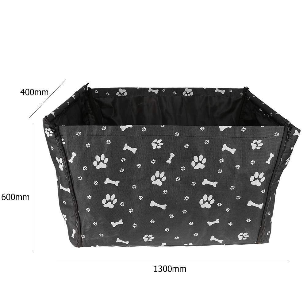 Black hnnew Pet Car Mat Portable Waterproof Pet Dog Cat Car Safe Seat Pad Travel Folding Bag