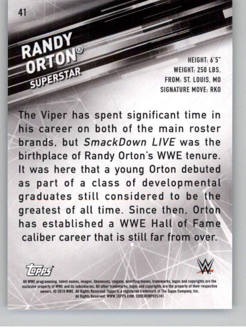 ghdonat.com 2019 Topps WWE Smackdown Live #41 Randy Orton ...