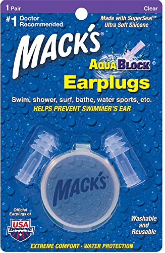 Macks Aquablock Ear Plugs (Mack's AquaBlock Earplugs 1 Pair (Pack of 5))