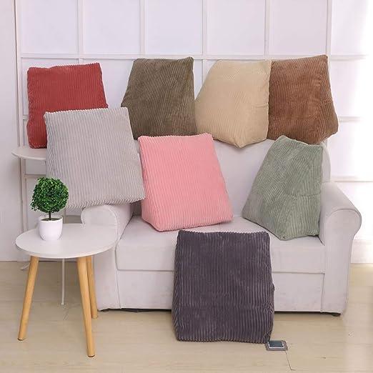 1X Bedrest Adjustable Pillow Back Support TV Reading Bed Rest Cushion Home Decor