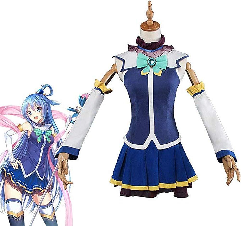KonoSuba God's blessing on this wonderful world Aqua Cosplay Costume With Stock