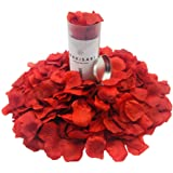 WAKISAKI (Separated, Deodorized Artificial Fake Rose Petals for Romantic Night, Wedding, Event, Party, Decoration, in Bulk (1