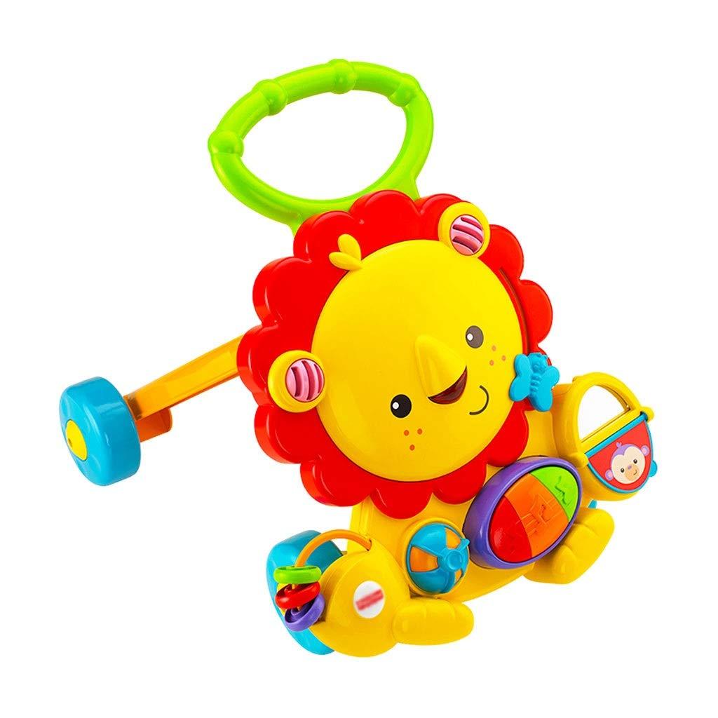 HUYP 女の子のためのベビーカートロリーアンチロールオーバー子供のパズルオレンジ6-24ヶ月   B07NQBW6M3