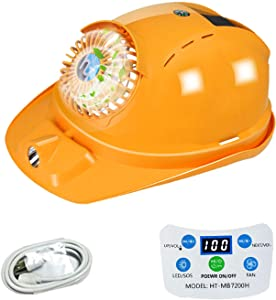 Safety Cap - Solar Hard Hat with Cooling Cool Fan Suit for Outdoor factory