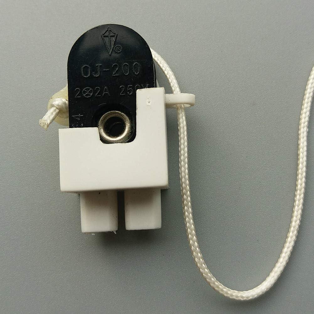 Zugschalter 5 St/üe Beleuchtung Kette Lampe Kronleuchter DIY Rei/ßverschluss Deenventilator Wandleuchte Ersatz M200 Universal Wohnaccessoires 5 St/ü