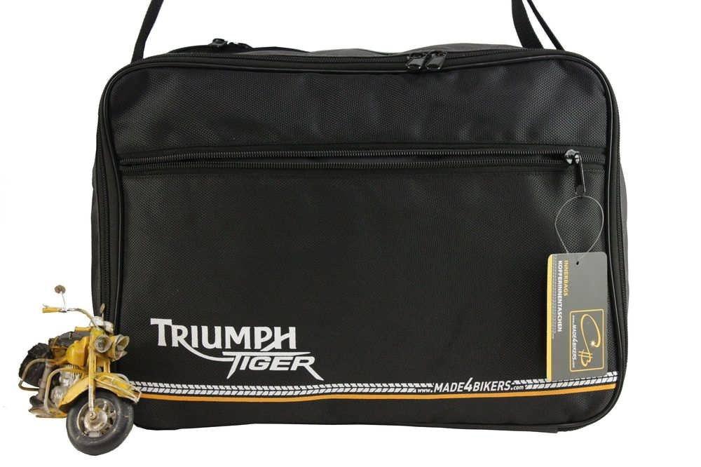 Koffer Innentaschen fü r Triumph Tiger 800, 800XC XC, Explorer KofferInnentaschen Schwarz-Grau CHB-IuV