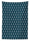Ambesonne Nautical Tablecloth, Anchor Pattern