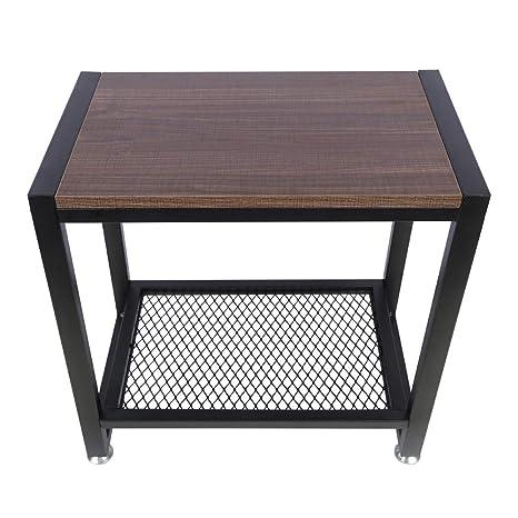 Amazon.com: Mesa auxiliar OROPY vintage con 2 estantes de ...