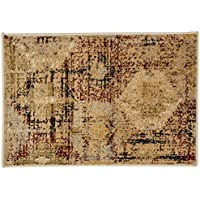 Superior Arabella Collection Area Rug, 8mm Pile Height with Jute Backing, Woven Fashionable and Affordable, 2 x 3 - Gold