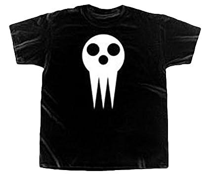 eb6a33e10db Amazon.com  Soul Eater Death The Kid Skull Logo Men T-Shirt Black ...