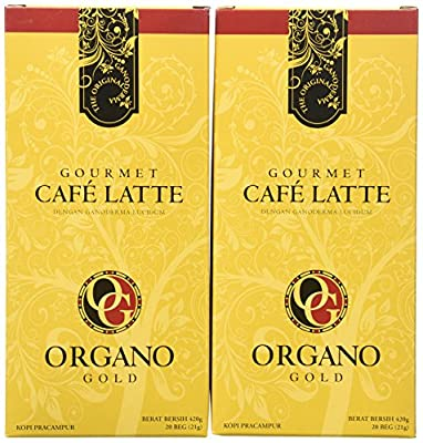 2 Boxes of Organo Gold Ganoderma -Gourmet Café Late (20 sachets per box) from BE