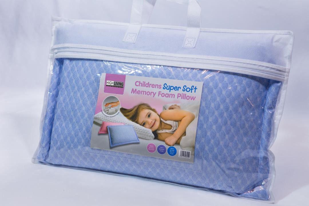 Anti Allergy Cot Bed Pillow Toddler Bamboo Contour Memory Foam Pillow 40cm x 25cm Single Toddler Pillow