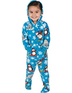 Footed Pajamas - Holly Jolly Christmas Toddler Hoodie Onesie eeea8f065