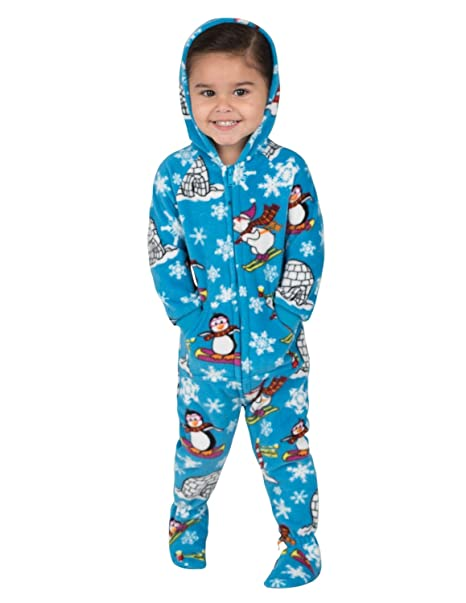 0add024ff Amazon.com: Footed Pajamas - Winter Wonderland Infant Hoodie Fleece ...