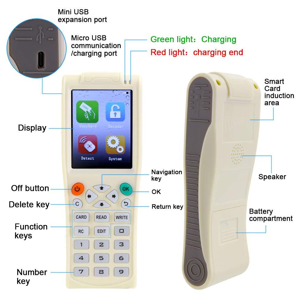 Handheld-Schl/üsselmaschine iCopy 8 mit vollst/ändiger Dekodierungsfunktion Intelligente Kartenschl/üsselmaschine RFI-D NFC-Kopierer IC//ID-Leser Writer Duplicator