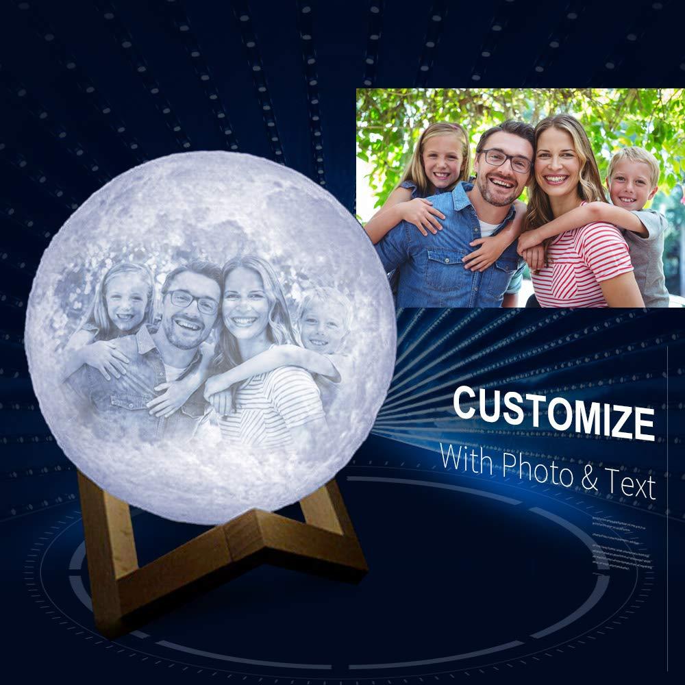 Lámpara de luna personalizada con imagen grabada, SIEMPRE EN MI ...