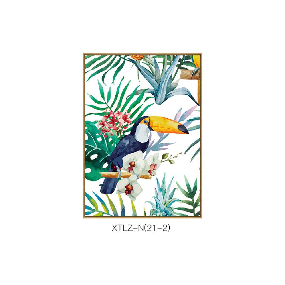 DEE Nordic style paintings, flowers birds pattern literary decorative painting, living room corridor aisle single combination painting, inkjet painting,C,3040 by DEE