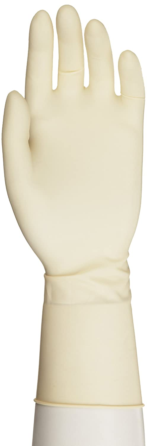 Microflex Ultra One Latex Glove, Powder Free, Extended Cuff, 11.8 Length, 9.8 mils Thick - 500 count by Microflex  B00474O6R8