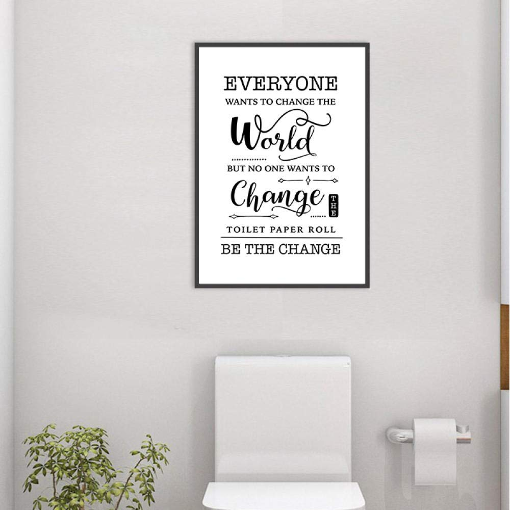 Funny Bathroom Sign Prints Wall Art Canvas Painting Bathroom Quote Black White Wall Picture Poster Bathroom Toilet Wall Decor 50x70cm No Frame Buy Online In Faroe Islands At Faroe Desertcart Com Productid 161085957