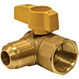 EZ-FLO 60034 Eastman Brass Gas Ball Valve Angle Flare