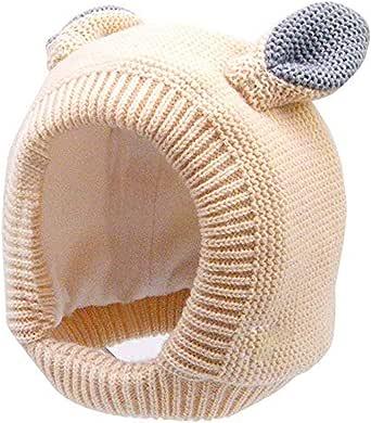 Hisharry Baby Beanie Warm Hat-Infant Boys Hat Cute Bear Knit Toddler Girls Earflap Soft Warm Fall Winter